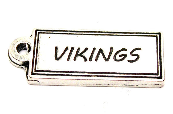 Vikings Tab Genuine American Pewter Charm
