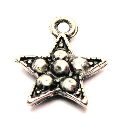 Bumpy Star Genuine American Pewter Charm