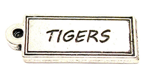 Tigers Tab Genuine American Pewter Charm
