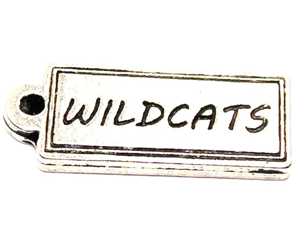 Wildcats Tab Genuine American Pewter Charm