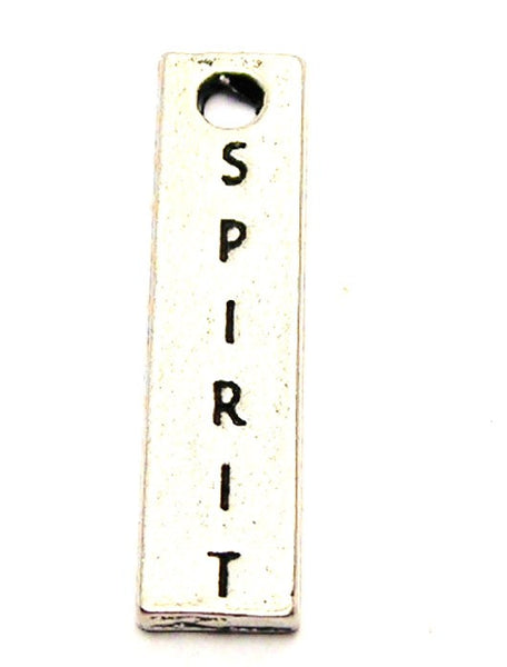 Spirit Long Tab Genuine American Pewter Charm