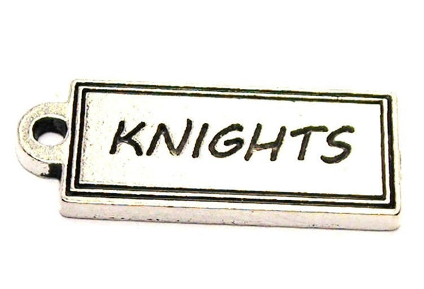 Knights Tab Genuine American Pewter Charm