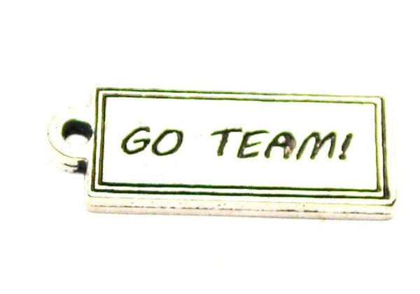 Go Team Tab Genuine American Pewter Charm