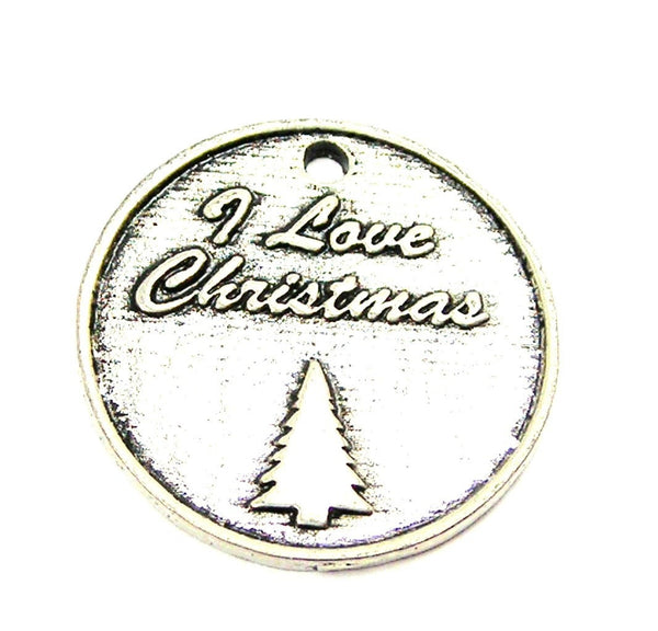 I Love Christmas Genuine American Pewter Charm