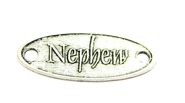 Nephew - 2 Hole Connector Genuine American Pewter Charm