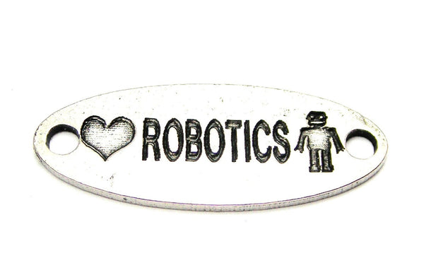 Love Robotics - 2 Hole Connector Genuine American Pewter Charm