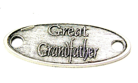 Great Grandfather - 2 Hole Connector Genuine American Pewter Charm