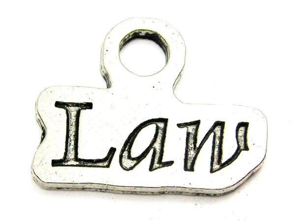 Law Genuine American Pewter Charm