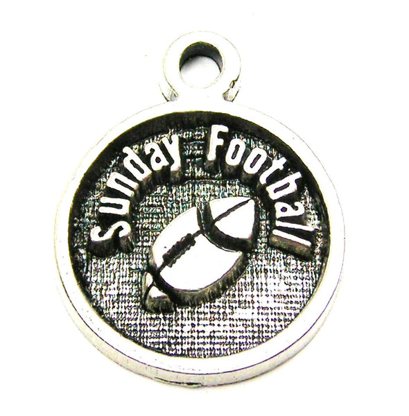Sunday Football Genuine American Pewter Charm