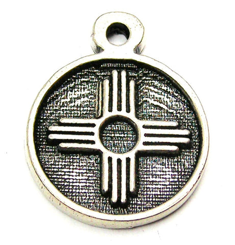 Zia Southwest Sun Symbol Genuine American Pewter Charm