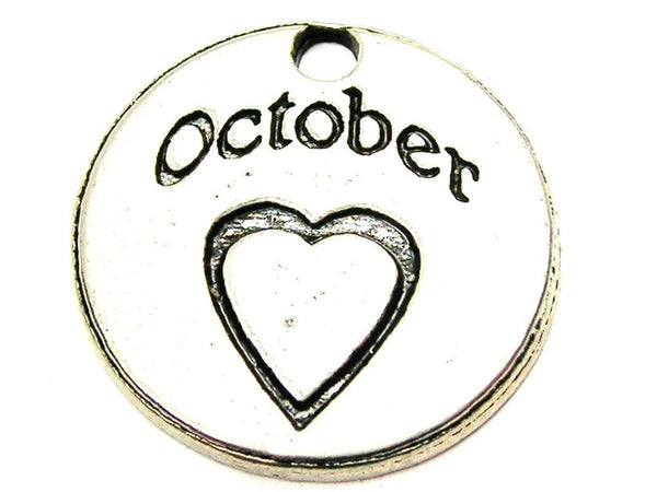 October Circle Genuine American Pewter Charm