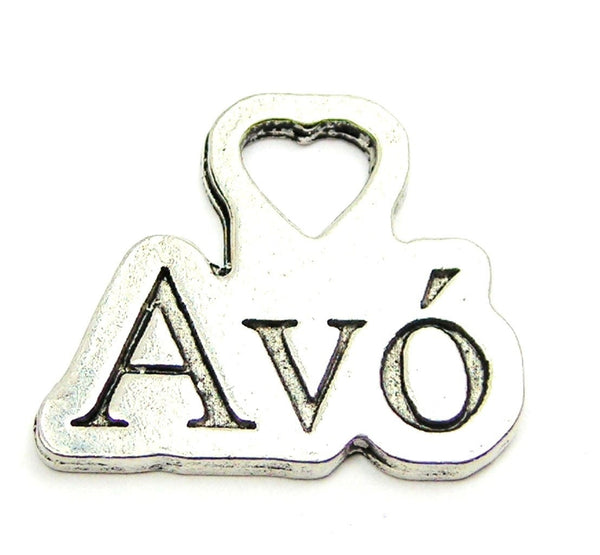 Avo Portuguese Grandmother Genuine American Pewter Charm