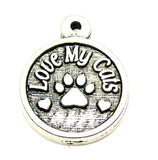 Pewter Charms, American Charms, Charms for bangles, charms for necklaces, charms for jewelry, cat lover charms, pet lover charms