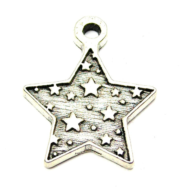 Pewter Charms, American Charms, Charms for bangles, charms for necklaces, charms for jewelry, Style_Celestial charms, star shaped charms