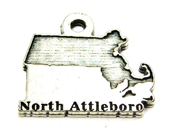 North Attleboro Massachusetts Genuine American Pewter Charm