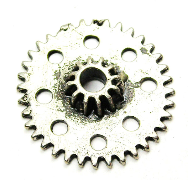 Steampunk Gear Large Genuine American Pewter Charm