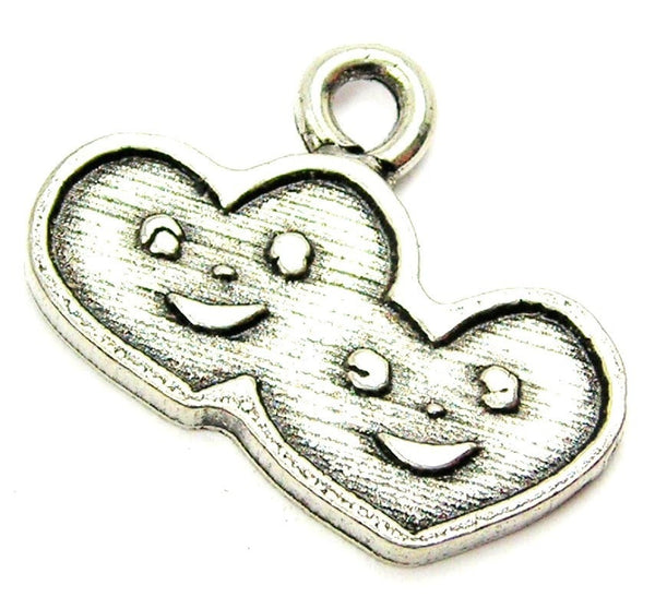 Happy Hearts Genuine American Pewter Charm