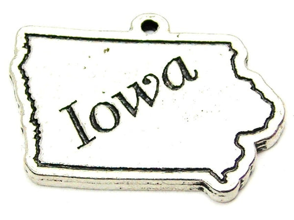 Iowa Genuine American Pewter Charm