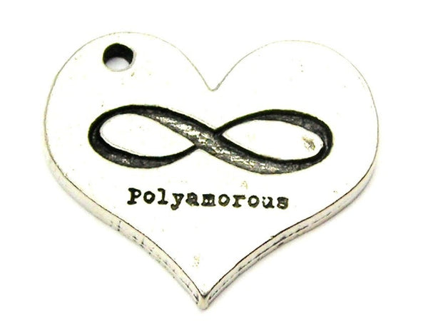 Polyamourous Genuine American Pewter Charm