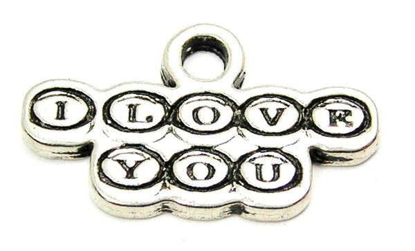 Typewriter Keys Style I Love You Genuine American Pewter Charm