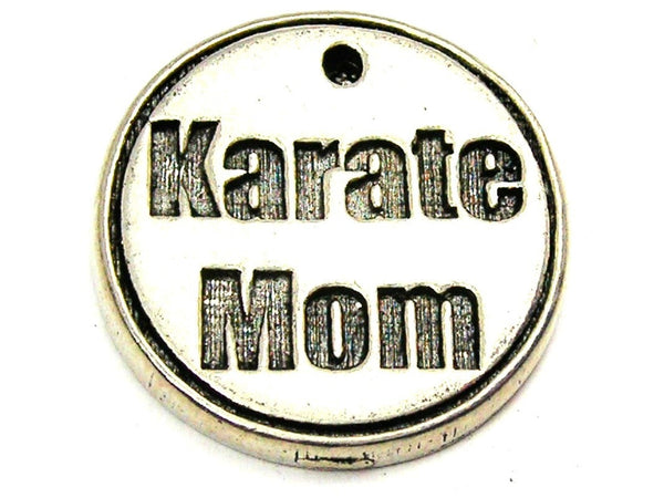 Karate Mom Genuine American Pewter Charm