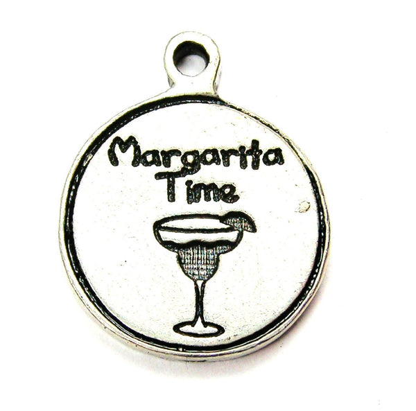 Margarita Time Genuine American Pewter Charm