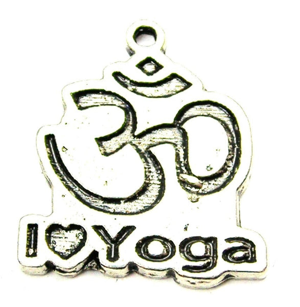 I Love Yoga Genuine American Pewter Charm
