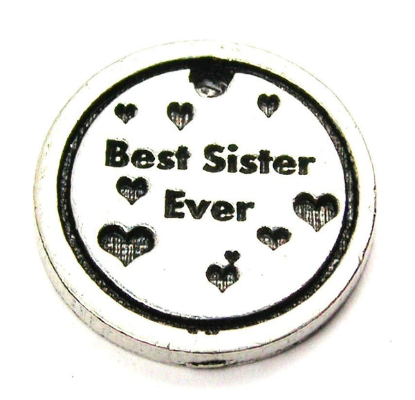 Best Sister Ever Genuine American Pewter Charm