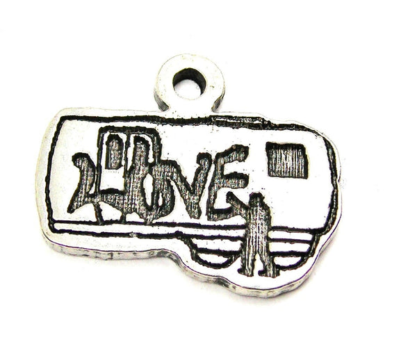 Pewter Charms, American Charms, Charms for bangles, charms for necklaces, charms for jewelry, graffiti charms, tagging charms