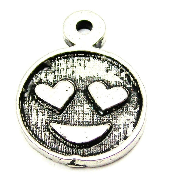 Love Emoji Genuine American Pewter Charm
