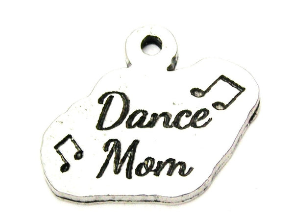 Dance Mom With Music Notes Genuine American Pewter Charm