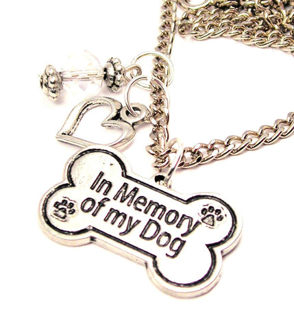 In Memory Of My Dog Necklace with Small Heart
