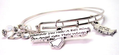 angel bracelet, angel jewelry, angel wings bracelet, bereavement bracelet, religious bracelet