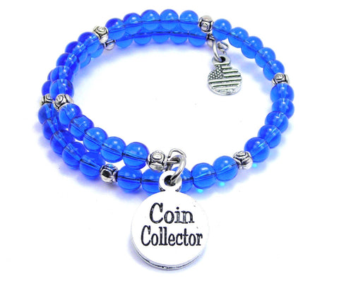Coin Collector Delicate Glass Wrap Bracelet