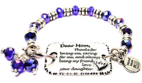 mother bracelet, I love my mom bracelet, mother daughter bracelet, love bracelet, family jewelry