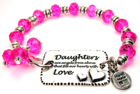daughter bracelet, daughter bangles, daughter jewelry, family jewelry, I love my daughter bracelet