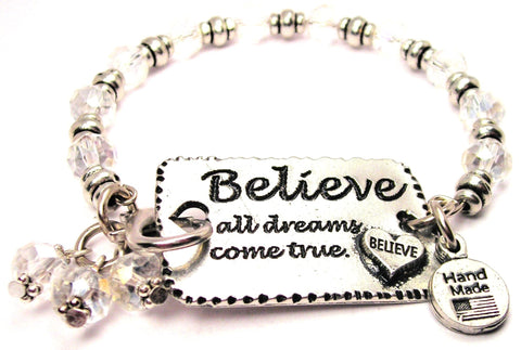 expression bracelet, uplifting expression jewelry, inspirational jewelry, statement bracelet, dreams bracelet