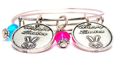 Buy The Blue Get The Pink For Free Happy Easter Expandable Bangle Bracelet