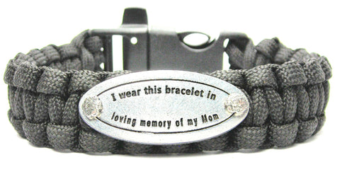 I Wear This In Loving Memory Of My Mom 550 Military Spec Paracord Bracelet