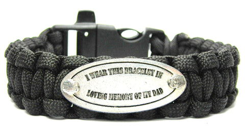 I Wear This In Loving Memory Of My Dad 550 Military Spec Paracord Bracelet