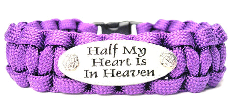 Half My Heart Is In Heaven 550 Military Spec Paracord Bracelet