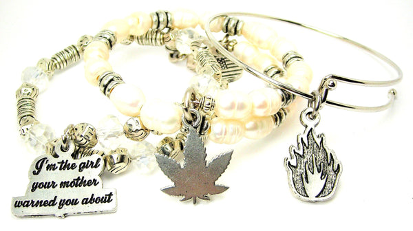 Legalize it 420 gift set 3 piece bangle bracelet collection