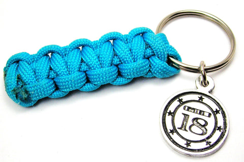 Chromosome 18 Paracord Keychain