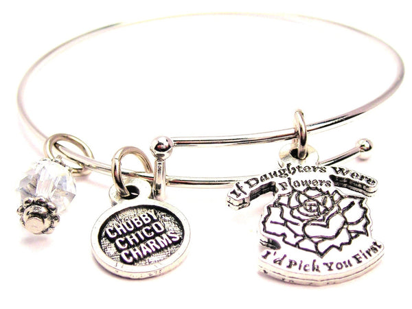 If Daughters Were Flowers I'd Pick You First Expandable Bangle Bracelet