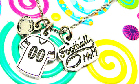 Football Mom Necklace With Custom Jersey Number