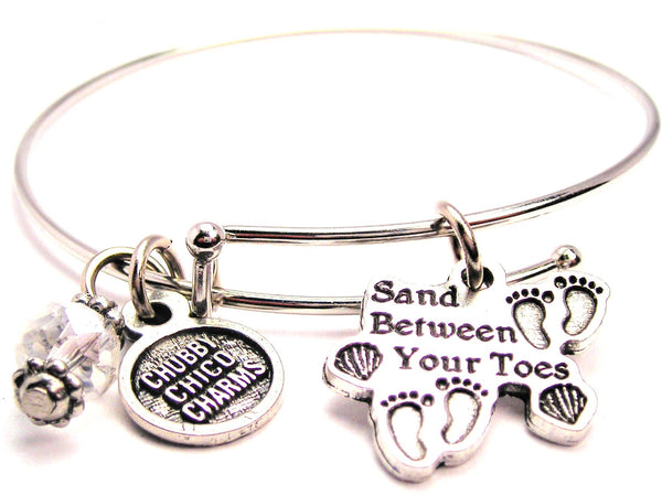 Sand Between Your Toes Bangle Bracelet