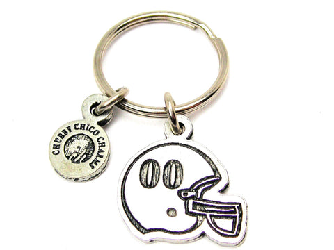 "Football Helmet Choose Your Number - 1"" Key Chain"