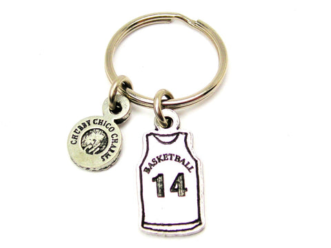 "Basketball Jersey Choose Your Number - 1"" Key Chain"