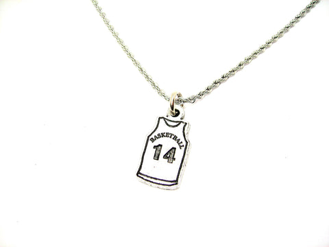 "Basketball Jersey Choose Your Number - 20"" Stainless Steel Rope Necklace"