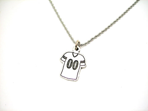 "Football Jersey Choose Your Number - 20"" Stainless Steel Rope Necklace"